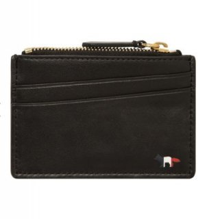 MAISON KITSUNE TRICOLOR FOX ZIPPED CARD HOLDER LEATHER メゾンキツネ トリコロール カードケース