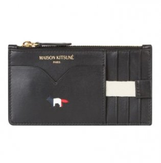 MAISON KITSUNE TRICOLOR ZIPPED COIN PURSE LEATHER メゾンキツネ トリコロール コインカードケース財布