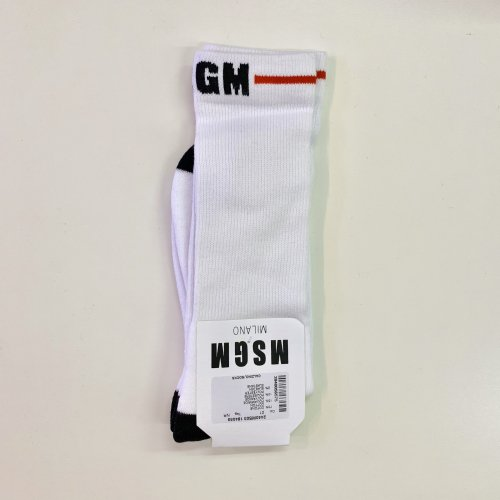 <img class='new_mark_img1' src='//img.shop-pro.jp/img/new/icons16.gif' style='border:none;display:inline;margin:0px;padding:0px;width:auto;' />MSGM MENS LINE LOGO SOCKS エムエスジーエム ロゴ ソックス