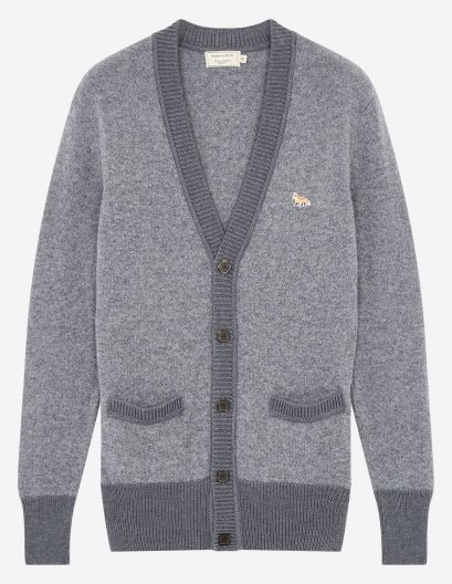 <img class='new_mark_img1' src='//img.shop-pro.jp/img/new/icons16.gif' style='border:none;display:inline;margin:0px;padding:0px;width:auto;' />MAISON KITSUNE LAMBS  WOOL CARDIGAN メゾンキツネ ウールカーディガン