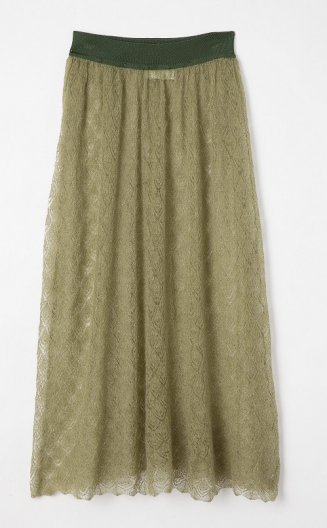 <img class='new_mark_img1' src='https://img.shop-pro.jp/img/new/icons16.gif' style='border:none;display:inline;margin:0px;padding:0px;width:auto;' />TAN POINTELLE MOHAIR SKIRT タン ポインテールモヘヤ スカート