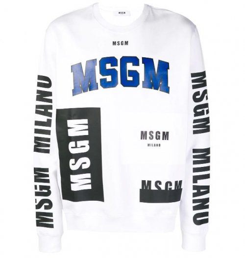 <img class='new_mark_img1' src='https://img.shop-pro.jp/img/new/icons16.gif' style='border:none;display:inline;margin:0px;padding:0px;width:auto;' />MSGM MENS MULTI LOGO SWEAT エムエスジーエム  マルチロゴ スウェット