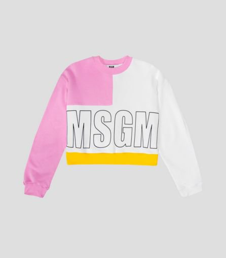 <img class='new_mark_img1' src='https://img.shop-pro.jp/img/new/icons16.gif' style='border:none;display:inline;margin:0px;padding:0px;width:auto;' />MSGM LOGO CROPPED SWEAT エムエスジーエム クロップド ロゴ スウェット