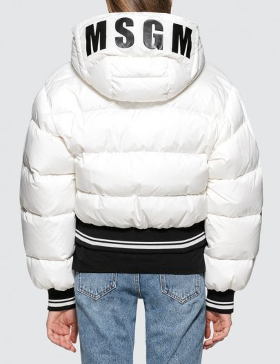 <img class='new_mark_img1' src='//img.shop-pro.jp/img/new/icons16.gif' style='border:none;display:inline;margin:0px;padding:0px;width:auto;' />MSGM HOODED LOGO DOWN JACKET エムエスジーエム フーデッドロゴ ダウンジャケット