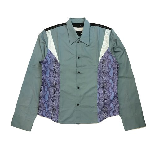 <img class='new_mark_img1' src='//img.shop-pro.jp/img/new/icons16.gif' style='border:none;display:inline;margin:0px;padding:0px;width:auto;' />CHIN MENSWEAR SNAKESKIN PATCH SHIRT チンメンズウェアー スネークスキンシャツ