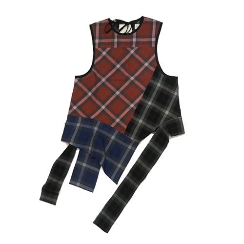 <img class='new_mark_img1' src='https://img.shop-pro.jp/img/new/icons16.gif' style='border:none;display:inline;margin:0px;padding:0px;width:auto;' />CHIN MENSWEAR PATCHWORK TOP チンメンズウェアー パッチワークトップ