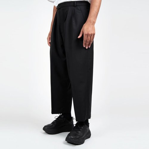 LOWNN ORO DOUBLE PLEATED WIDE TROUSERS  ローン Wプリーツワイドパンツ