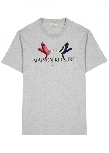 <img class='new_mark_img1' src='https://img.shop-pro.jp/img/new/icons16.gif' style='border:none;display:inline;margin:0px;padding:0px;width:auto;' />MAISON KITSUNE TEE-SHIRT LOVEBIRDS メゾンキツネ Tシャツ ラブバード