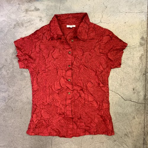 <img class='new_mark_img1' src='https://img.shop-pro.jp/img/new/icons16.gif' style='border:none;display:inline;margin:0px;padding:0px;width:auto;' />VINTAGE PLEATS SHIRTS ヴィンテージ プリーツ シャツ RED