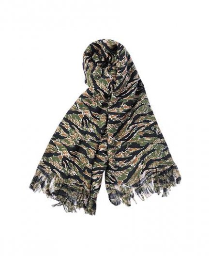 <img class='new_mark_img1' src='//img.shop-pro.jp/img/new/icons1.gif' style='border:none;display:inline;margin:0px;padding:0px;width:auto;' />JOHN LAWRENCE SULLIVAN CAMO JACQUARD SHAWL ジョン ローレンス サリバン カモストール