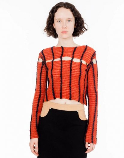<img class='new_mark_img1' src='//img.shop-pro.jp/img/new/icons16.gif' style='border:none;display:inline;margin:0px;padding:0px;width:auto;' />ECKHAUS LATTA PEAKING SWEATER エコーズラッタ ピーキングセーター