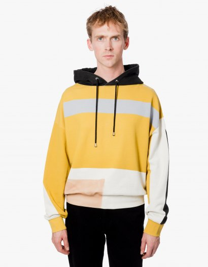 <img class='new_mark_img1' src='https://img.shop-pro.jp/img/new/icons16.gif' style='border:none;display:inline;margin:0px;padding:0px;width:auto;' />ECKHAUS LATTA HOODIE IN ATMOSPHERIC SCREEN PRINT エコーズラッタ デザイン フーディ