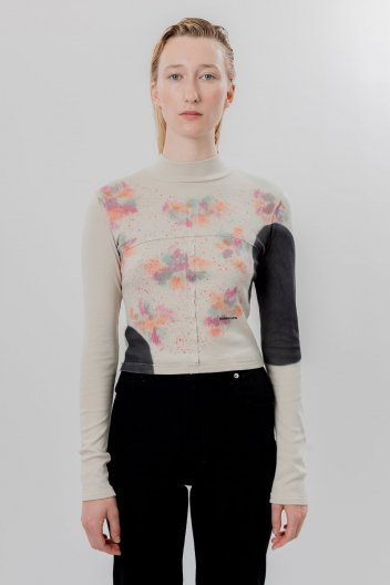 ECKHAUS LATTA LAPPED BABY TURTLENECK ISOLATED SPOTS エコーズラッタ ハイネック Tシャツ