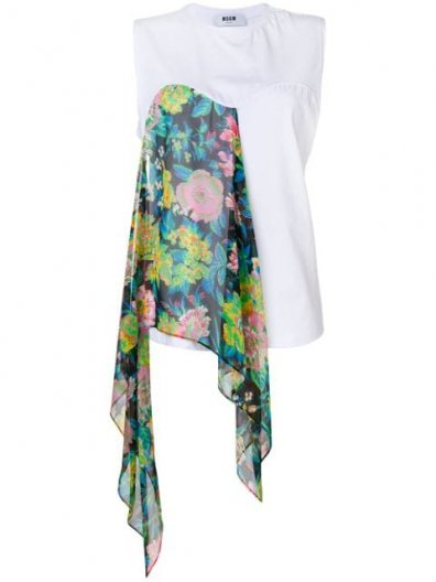 <img class='new_mark_img1' src='https://img.shop-pro.jp/img/new/icons16.gif' style='border:none;display:inline;margin:0px;padding:0px;width:auto;' />MSGM SCARF FLOWER TOPS エムエスジーエム スカーフフラワートップス