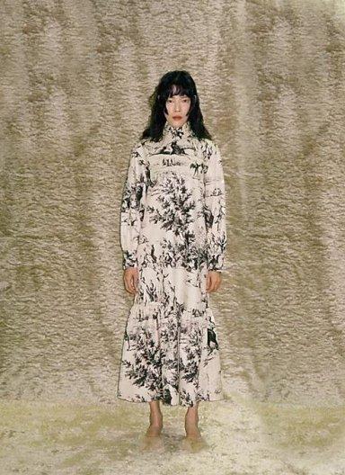 JOHN French Scenic Printed Dress ジョン フレンチ プリントドレス