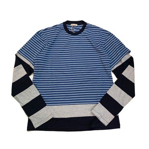 MARNI MEN BORDER RAYERED T-SHIRTS マルニ ボーダーレイヤードTシャツ