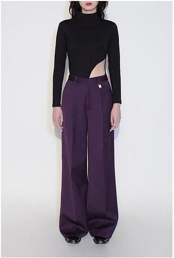 JOHN High Waist Wide Trousers ジョン ハイウエスト ワイド トラウザーパンツ