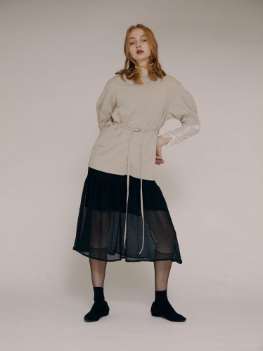 <img class='new_mark_img1' src='https://img.shop-pro.jp/img/new/icons16.gif' style='border:none;display:inline;margin:0px;padding:0px;width:auto;' />tsuyoshi yao tokyo Puff sleeve Tee  ツヨシ ヤオ パフスリーブ Tシャツ