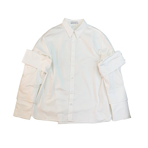 <img class='new_mark_img1' src='https://img.shop-pro.jp/img/new/icons16.gif' style='border:none;display:inline;margin:0px;padding:0px;width:auto;' />DELADA SHIRT WITH DOUBLE SLEEVES AND SPLIT DELADA CUFFS デラダダブルスリーブカフシャツ