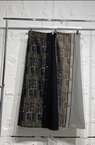 【ご予約】MURRAL LANDCCAPE JACQUARD ASYMMETRIC SKIRT ミューラル ジャガード アシンメトリー スカート