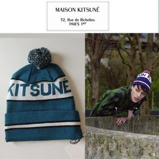 <img class='new_mark_img1' src='//img.shop-pro.jp/img/new/icons16.gif' style='border:none;display:inline;margin:0px;padding:0px;width:auto;' />MAISON KITSUNE メゾンキツネ HAT SUPPORTER ハットサポーター ニット帽