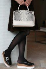 stylist オリジナル CHANGEABLE BAG mini  オフホワイト・ナチュラルパイソン