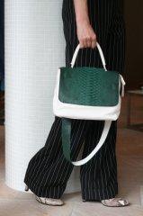 stylist オリジナル CHANGEABLE BAG mini/ホワイト・グリーンパイソン