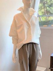midボタン深開きシャツ(ホワイト)