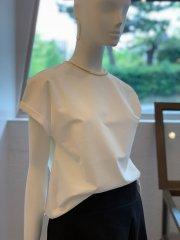 袖折りTシャツ(ホワイト)