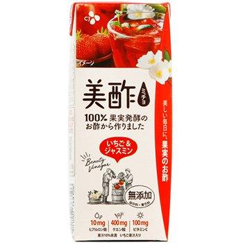 【送料無料】新感覚 プチジェル美酢(ミチョ) イチゴ & ジャスミン 200ml x 24パック
