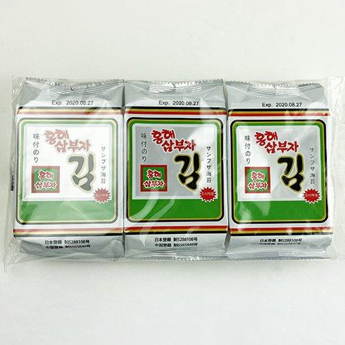 【送料無料】ホンへ 三父子 サンブジャ 海苔 72袋
