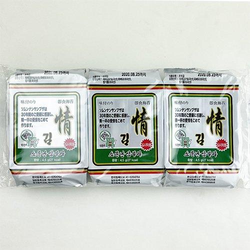 ソムンナン サンブザ 三父子 情 味付 のり 8切9枚 72袋
