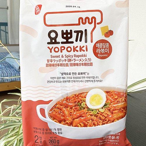 ヘテ ヨポッキ ラポッキ 260g 2人分 トッポッキ + 麺 ソース付き