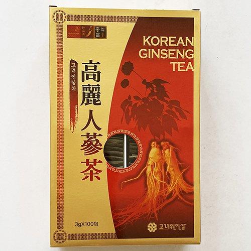 【送料無料】紙箱 高麗人参茶 100包 x 3箱