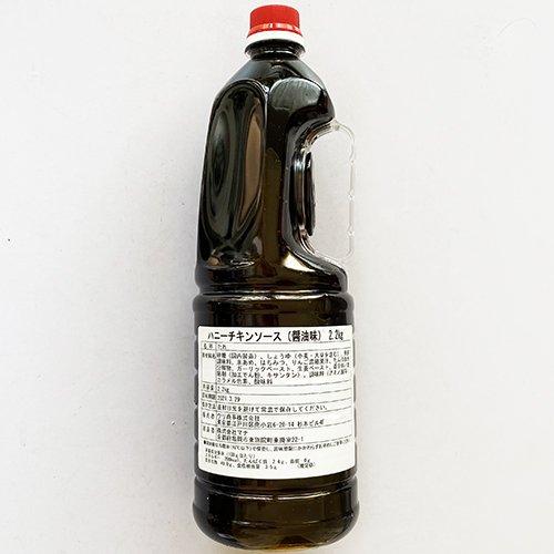 【送料無料】国内生産 WOORI ハニー チキン ソース 醤油味 2.2kg x 6本