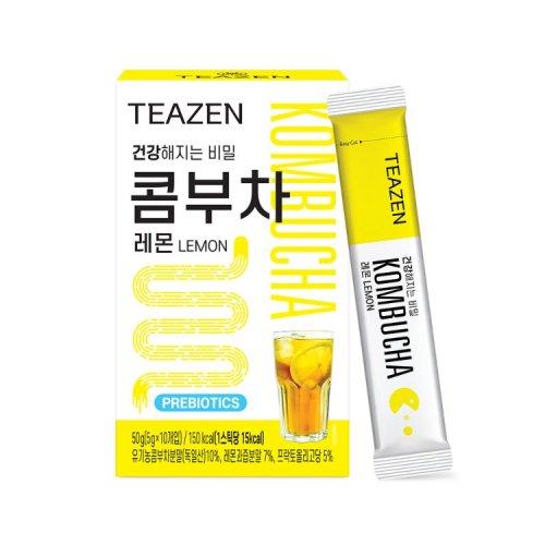 BTS ジョングク イチオシ TEAZEN 昆布茶 レモン 50g (5g x 10包) 3箱