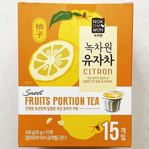 緑茶園 はちみつ ゆず茶 ポーションタイプ 30g x 15個入り