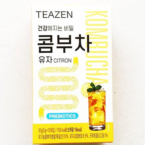 【送料無料】BTS ジョングク イチオシ TEAZEN 昆布茶 ゆず 50g (5g x 10包) 12箱