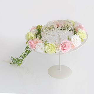 A&F016 お花冠 ピンク&ホワイト