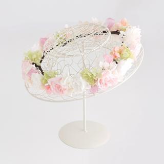 A&F016 お花冠 淡いピンク&ホワイト