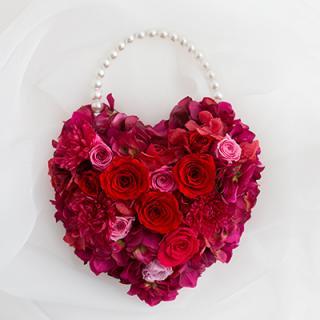 A&F017 真っ赤なバラのHEARTブーケ