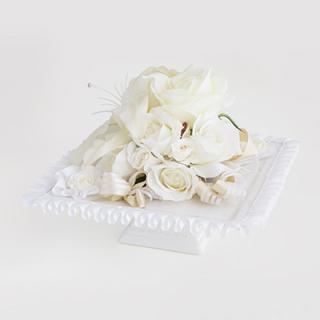 A&F018 真っ白な薔薇のインテリアアレンジ
