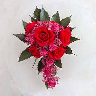A&F020 真っ赤薔薇のラインブーケ