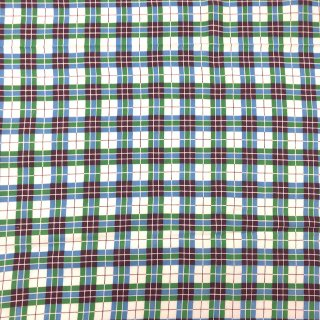 フィードサック フルサイズ チェック ブルー/グリーン