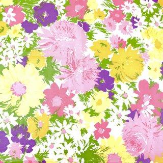 ヴィンテージ生地 チンツ 花柄