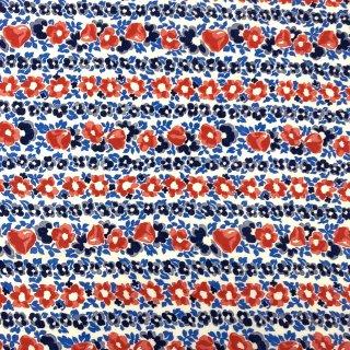 ヴィンテージ生地 花柄 ブルー