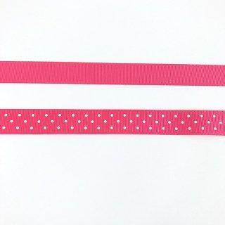 ライリーブレイク ドットリボン 15mm ピンク