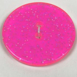 輸入ボタン グリッターボタン3個セット 丸 32mm ビビットピンク