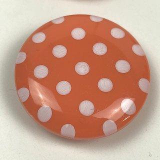 輸入ボタン ドットボタン2個セット 22mm オレンジ