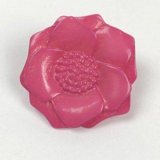 輸入ボタン フラワーボタン2個セット 28mm ピンク